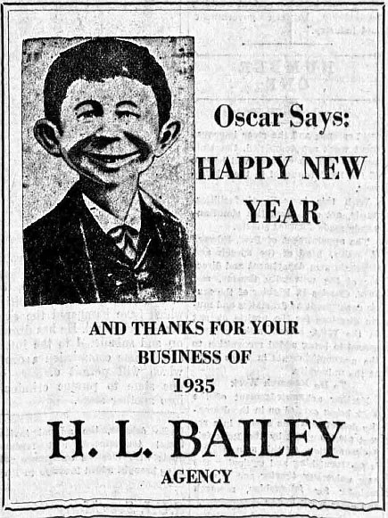 Could this be Alfred E. Neuman's ancestor? From a 1936 edition of the Daily Iowan