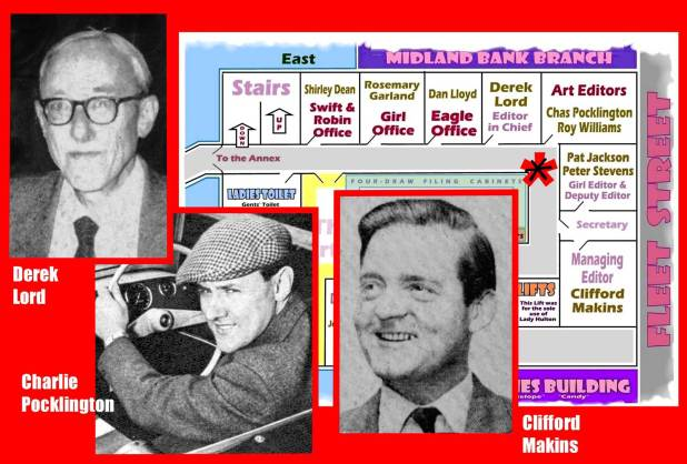Derek Lord, Charles Pocklington and Clifford Makins, plus floor plan
