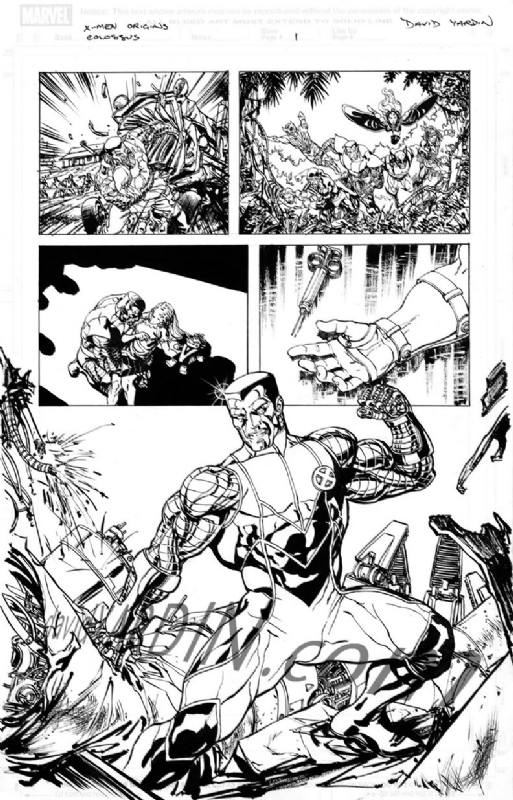 A page by David Yardin from the Colossus story written by James Asmus, drawn for Origins of Marvel Comics: X-men #1.