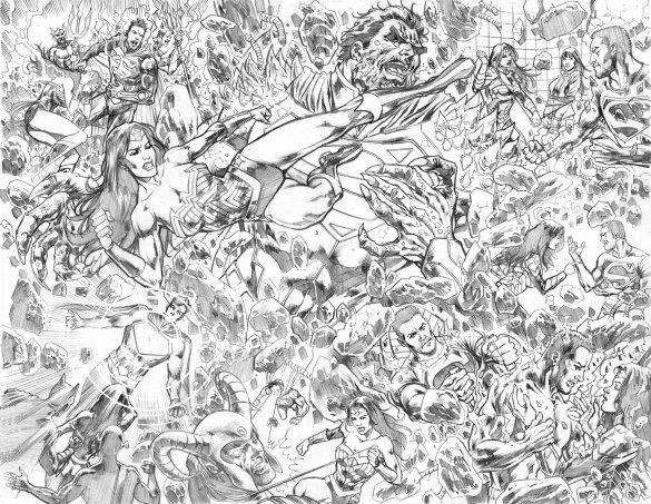 Superman pencils by Marco Santucci