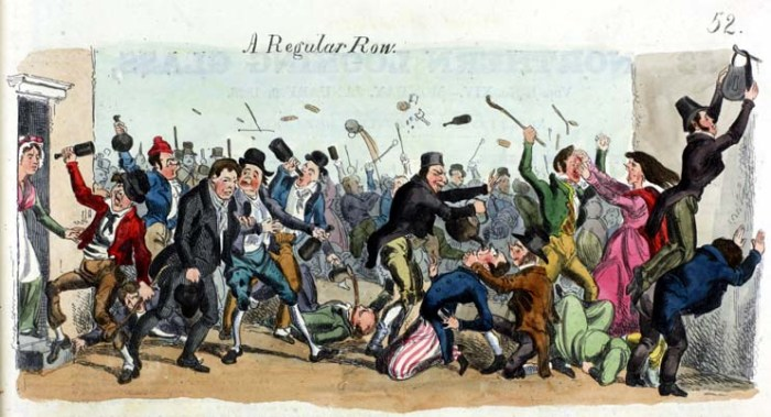 """""""A Regular Row"""", from the Glasgow Looking Glass Number 14, published on 9th January 1826"""