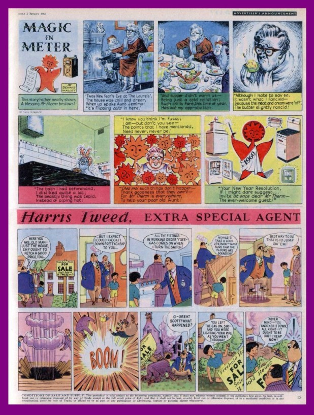 The Harris Tweed embarrassment appeared in Eagle in the issue cover dated 2nd January, 1960