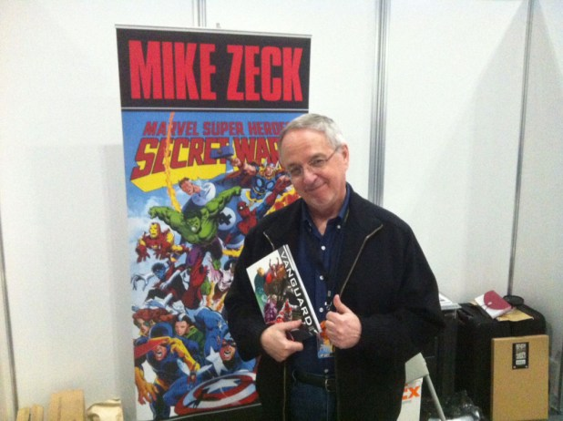 Mike Zeck, holding a copy of Vanguard by Dan Butcher. Photo: Antony Esmond