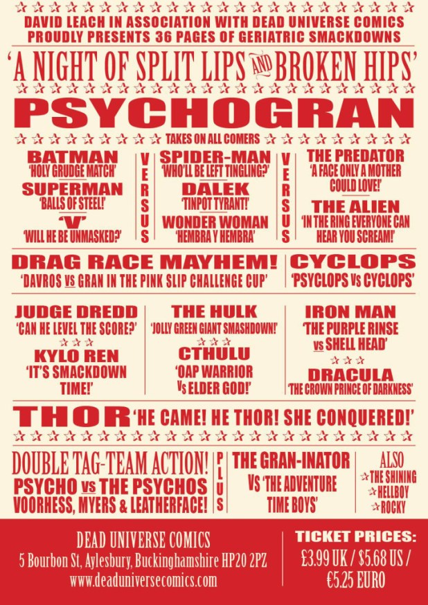 Psycho Gran Vs... Back Cover