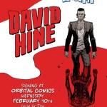 Orbital Comics David Hine Signing 10th February 2016