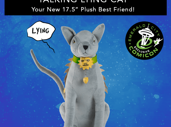 Lying Cat Plush Toy _ Emerald City Comicon Variant