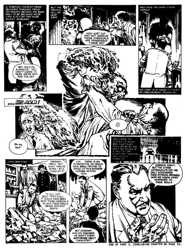 Art from the House of Hammer adaptation of The Quatermass Experiment by Brian Lewis