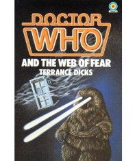 Andrew Skilleter's cover for the 1983 edition of the Second Doctor story The Web of Fear