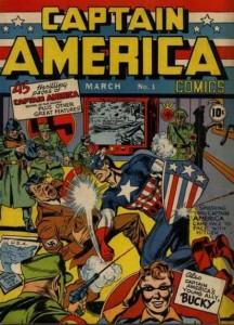 The very first issue of Captain America, published in March 1941. Art by Jack Kirby