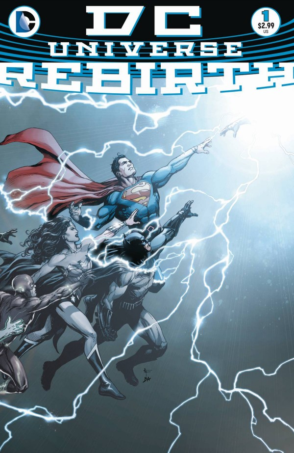 On sale 25th May - the one shot DC Universe Rebirth title that kicks off a major relaunch. Cover by Gary Frank
