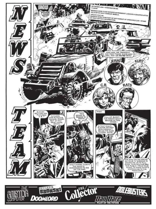 News Team by Alan Hebden, drawn by Jose Ortiz