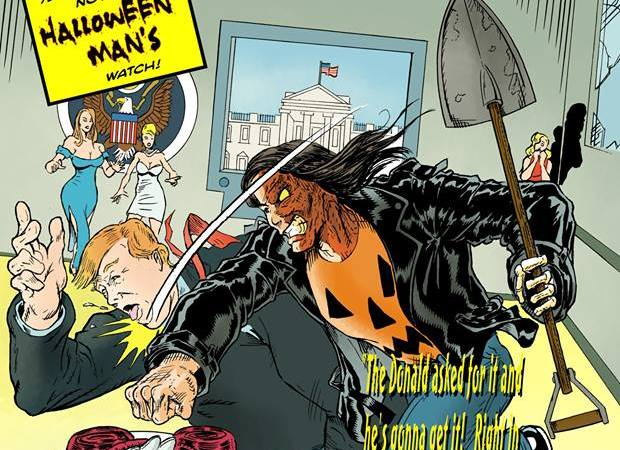 Halloween Man Creative Team Takes on Donald Trump!
