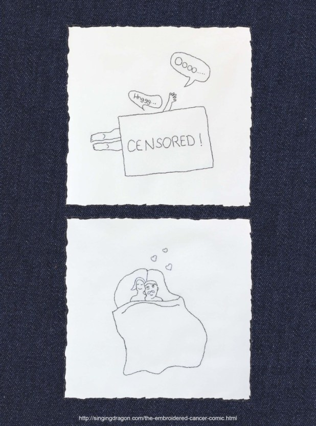 'Embroidered Cancer Comic' by Sima Elizabeth Shefrin - Sample 2