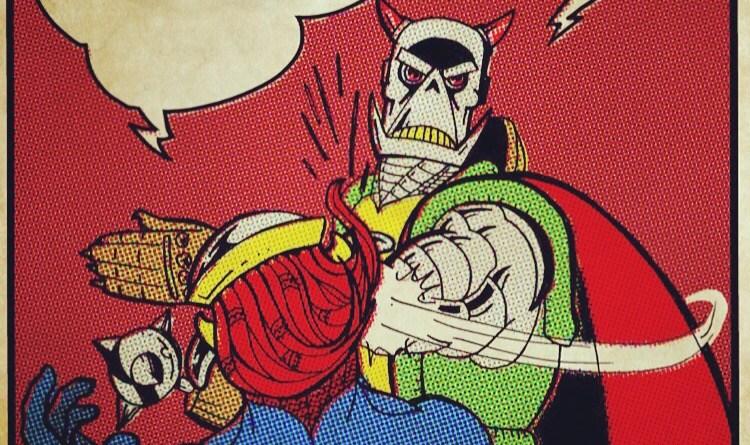 Death's Head versus Death's Head: Freelancing is Fun. Art by Chris Holmes