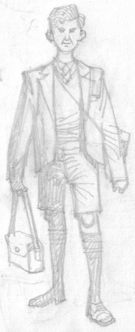 Pencils for one of the characters in Kestrels, written by Ben Dickson