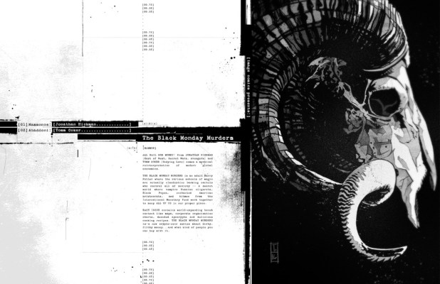 THE BLACK MONDAY MURDERS  by Jonathan Hickman & Tomm Coker