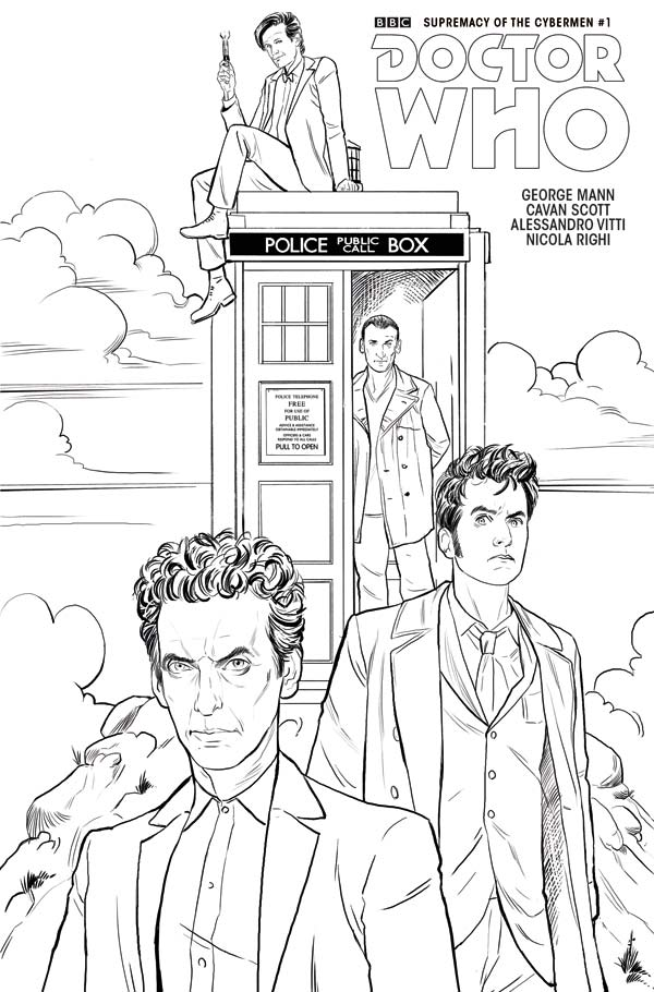 Doctor Who Event 2016: Supremacy of the Cybermen #1 Cover D - Colouring Variant