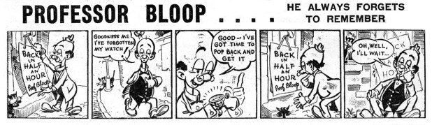 "An episode of ""Professor Bloop"" by Geoff Campion, a strip for Knockout"