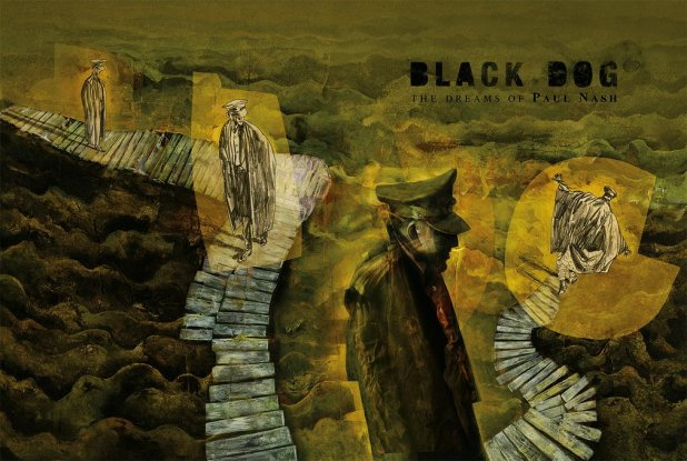 """Artist Paul Nash in the trenches. Art from """"Black Dog"""" © Dave McKean"""