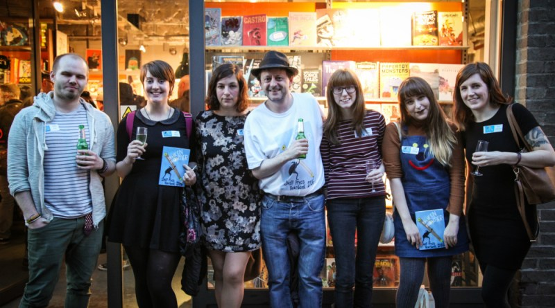Just some of the creators gathered at Gosh in London for the successful launch of the Broken Frontier Small Press Year Book 2016 on 29th April. Photo: Mauricio Molizane De Souza