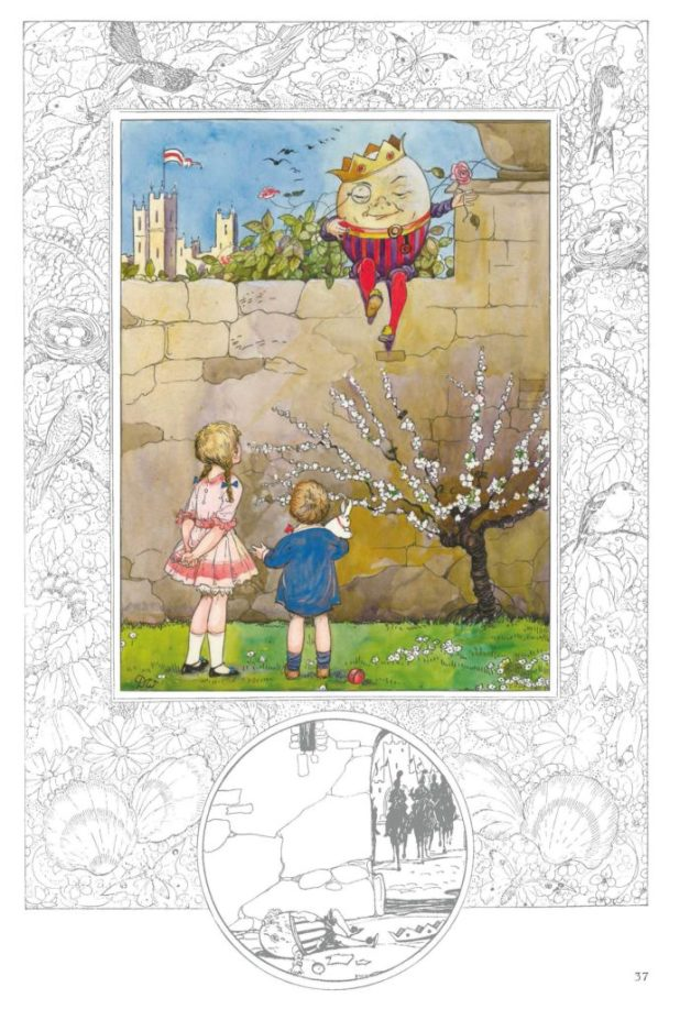 "The nursery rhyme ""Humpty Dumpty"", illustrated by Dorothy M. Wheeler"