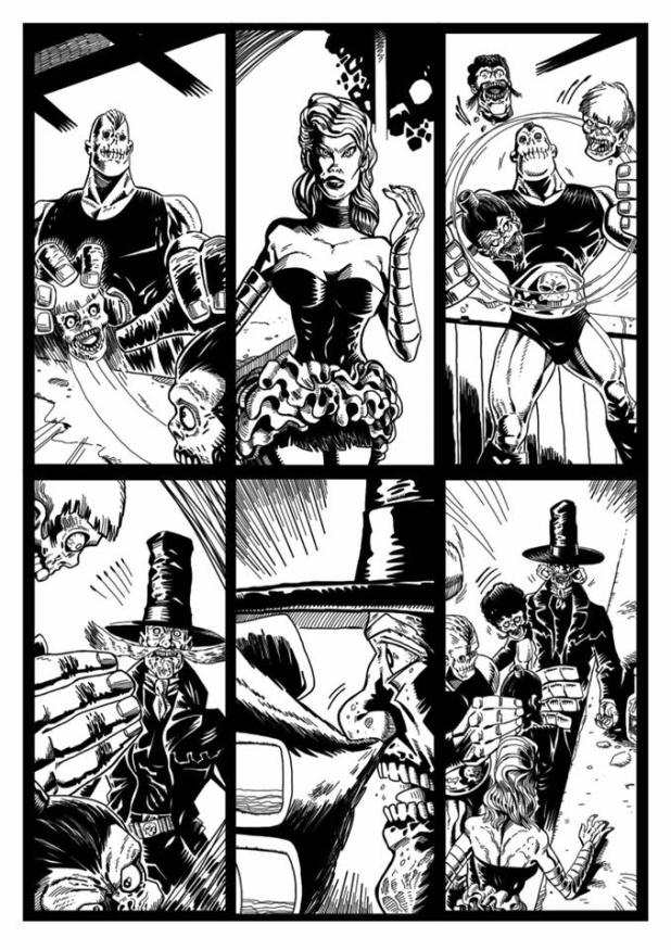 Stephen's art on an upcoming issue of El Bigote