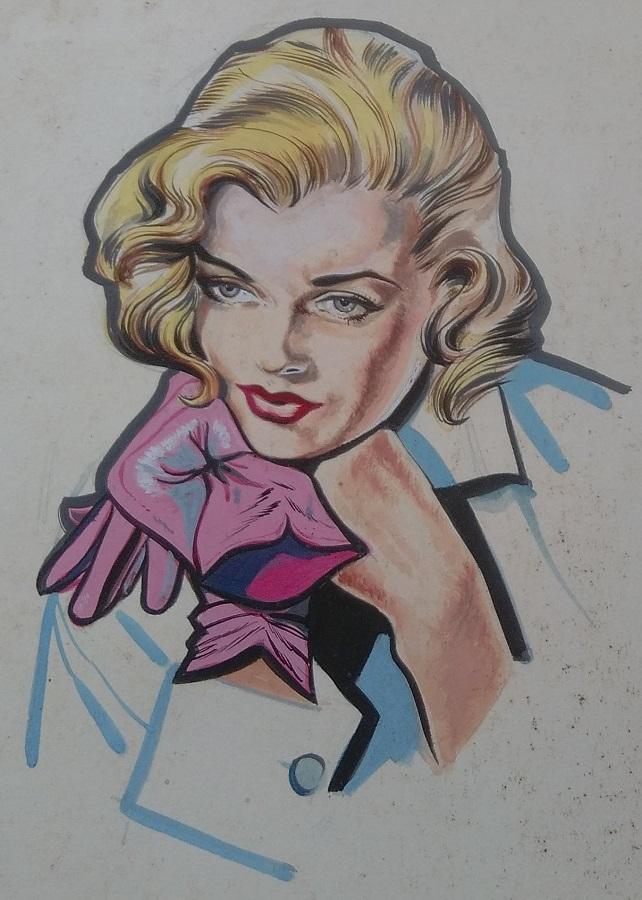 Elegance in Gloves. Art by Gordon Livingstone