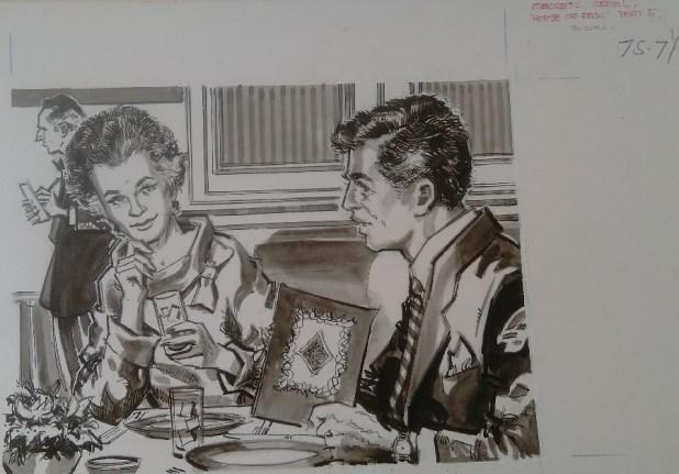 """""""House of Fear"""" Part 5 for Secrets magazine. Art by Gordon Livingstone"""