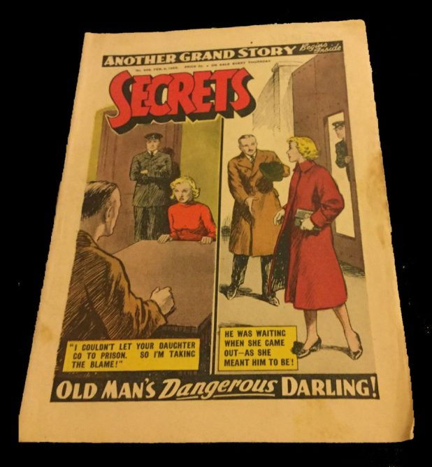 An example of DC Thomson's Secrets magazine. Photo courtesy Andrea's Vintage Antiques