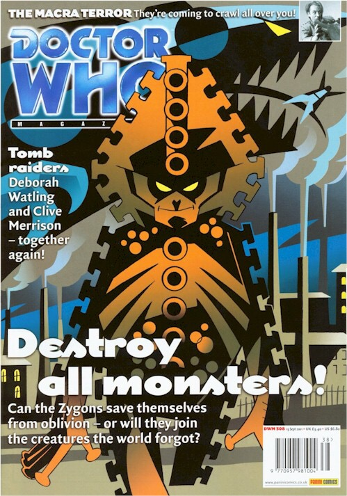 Doctor Who Magazine Issue 308 - cover by Adrian Salmon
