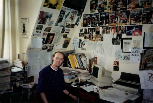 Me, at my desk in the Marvel UK offices on the top floor of Arundel House in the early 1990s. You're marvelling at the slick modern technology on my desk, aren't you? Thank you, Lord Sugar. Photo: Jon Preddle