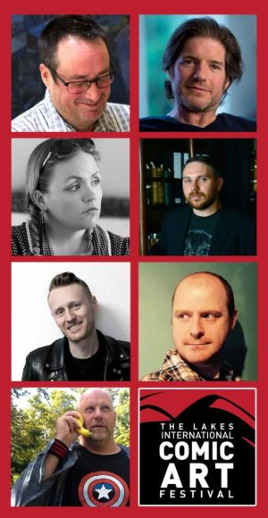 Duncan Fegredo, Charlie Adlard, Leah Moore, John Reppion, Rufus Dayglo, Dan Berry and ILYA join the Lakes International Comic Art Festival line-up for 2016.