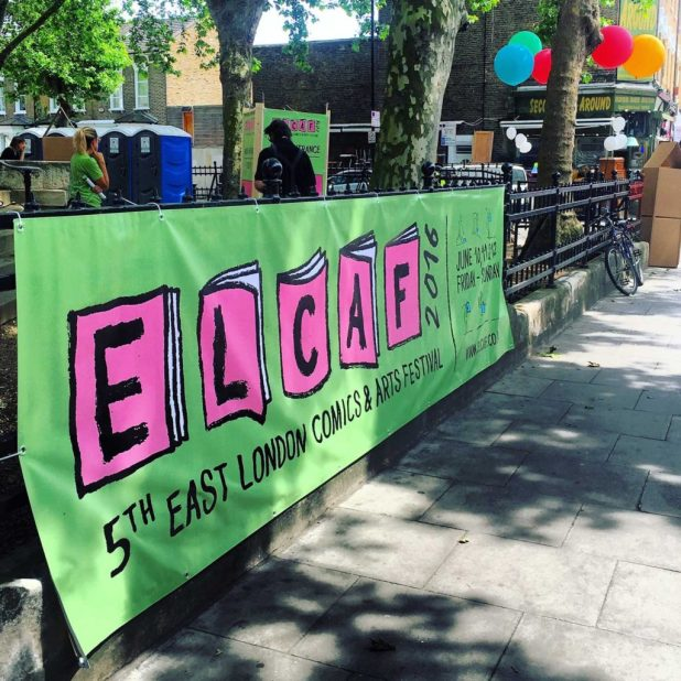 East London Comics Art Festival 2016 - Banner