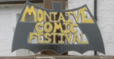 Moniaive Comic Festival Sign