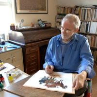 Ron Tiner in his studio. Picture courtesy Ron Tiner