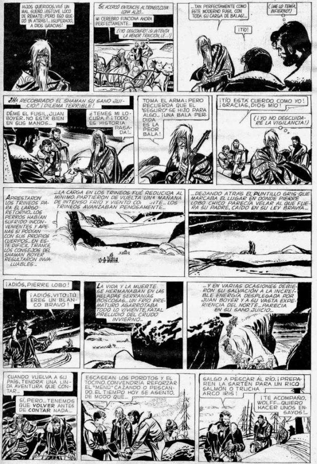 """A page of """"Vito Nervio"""" by Alberto Breccia"""