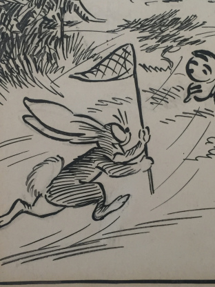 """Detail of art from Daily Mirror's much-loved """"Pip, Squeak and Wilfred"""" strip"""