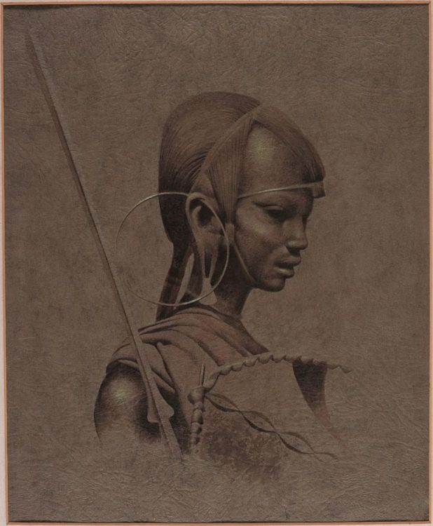 """Masai Warrior art by Frank Bellamy, which features in the """"Comics Unstripped!"""" exhibition. Via the Frank Bellamy Blog"""
