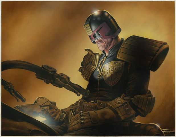 The Judge Dredd poster by Chris Weston that coms free with the 2000AD Summer Special 2016