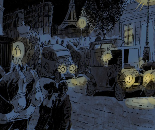 A panel rom the story 'Epigraph' written by John Osborn and art by Maximillian Meier
