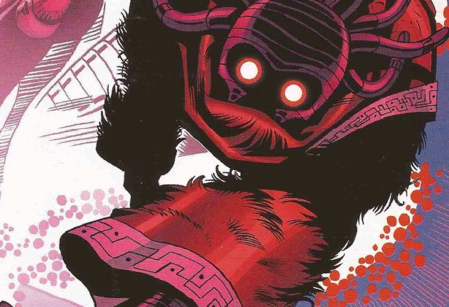 """Just one of the astonishing visuals in the Doctor Who strip """"The Crimson Hand"""" , written by Dan McDaid, drawn by Martin Geraghty (pencils) David A. Roach (inks)"""