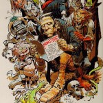 Jack Davis art for the book The Collector's Guide to Monster, Science Fiction, and Fantasy Film Magazines by Bob Michelucci, published in 1988