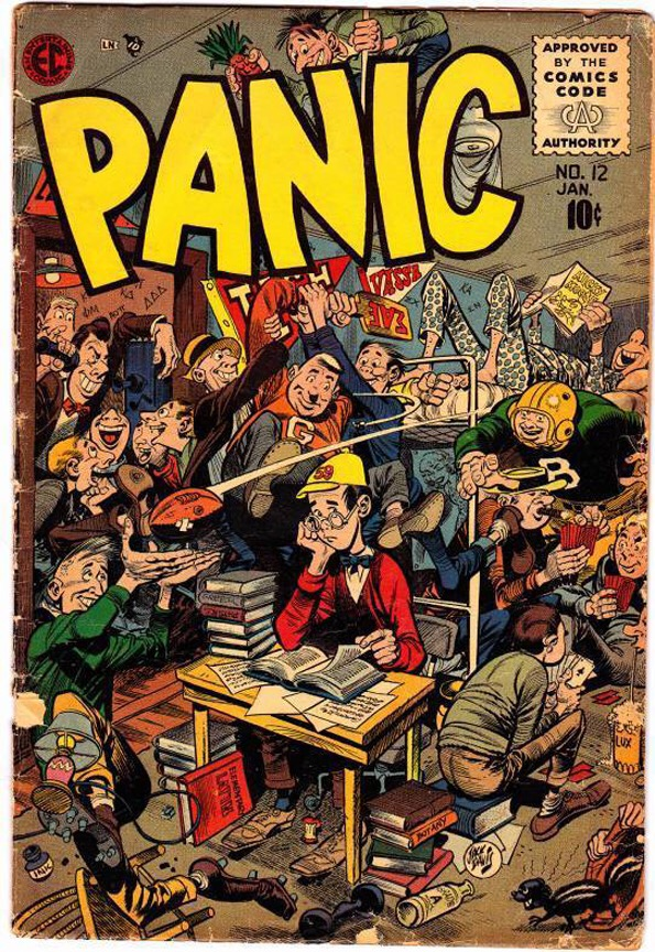 Cover for Panic #12 by Jack Davis January, 1956 issue
