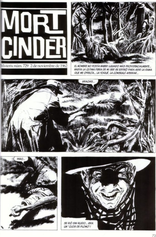 A page from Mort Cinder published in 1962