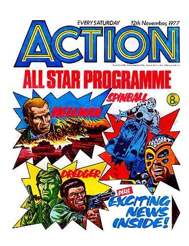 Action cover dated 12th November 1977