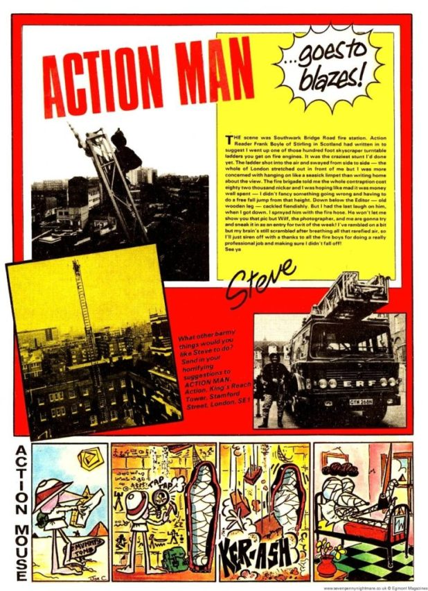 Action Man 5: 13th March – Firefighter training with the London Fire Brigade, up a 100 foot ladder