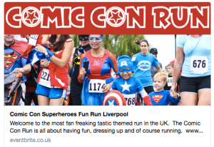 "A page for a ""Comic Con Run"" in Liverpool is still on Eventbrite"