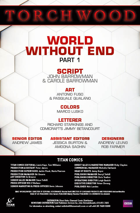 Torchwood #1 Preview Credits