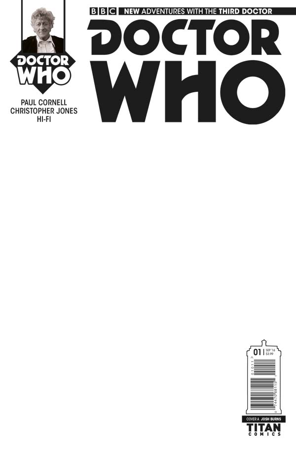 Doctor Who: The Third Doctor - Cover E: Blank Sketch Variant