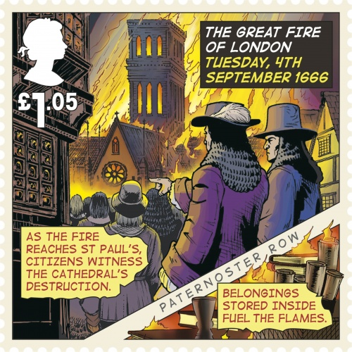 Great Fire of London Stamp - 4th September